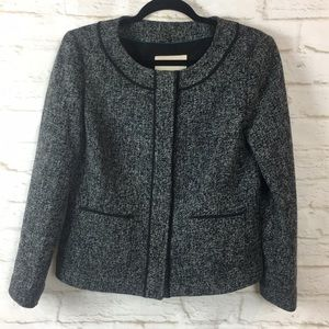 Banana Republic Snap Button Black Blazer Jacket 8